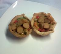Tartaletas Veganas de Sofrito Vegetal.