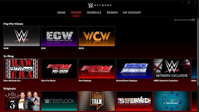 WWE Network app for Windows 10