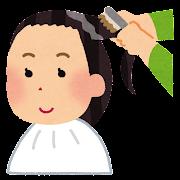 カラーリング・白髪染めのイラスト(女性)