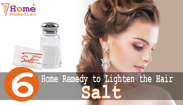 Salt can light hair naturally