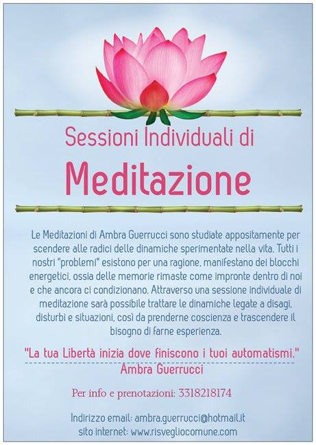 Sessioni individuali di meditazione con Ambra Guerrucci