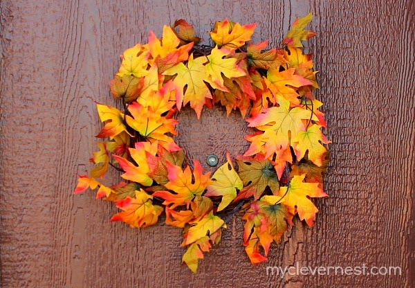 myclevernest fall wreath, from wal mart
