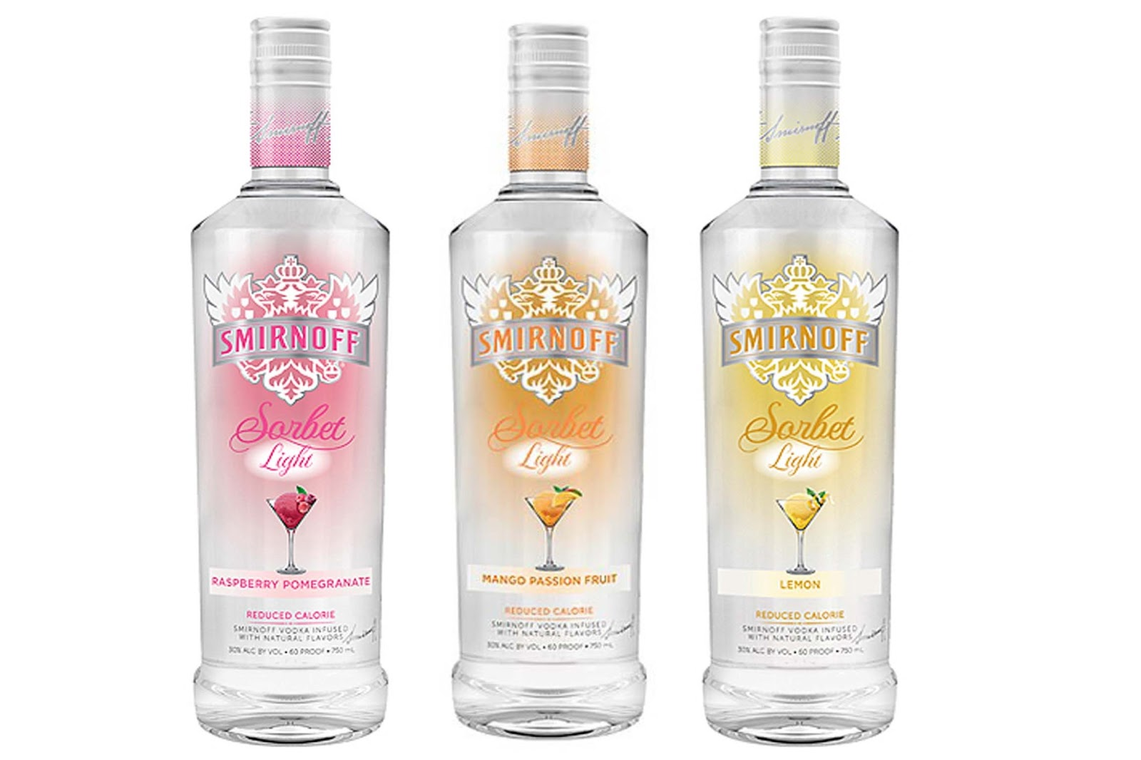 Nuevos vodkas light de smirnoff for Light cocktails with vodka