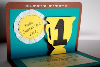 Big-T trophy popup card