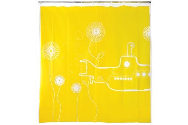 Cortinas De Baño Geek:Cortina de baño del submarino amarillo
