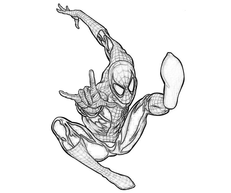 The amazing spider man armor yumiko fujiwara for Amazing spiderman coloring pages