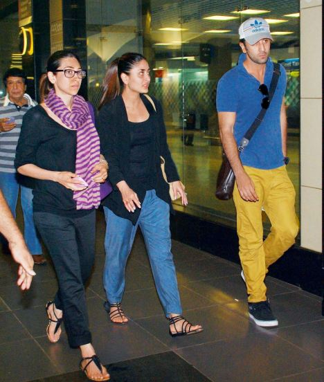 Spotted: Ranbir, Kareena & Karishma Kapoor Together ...