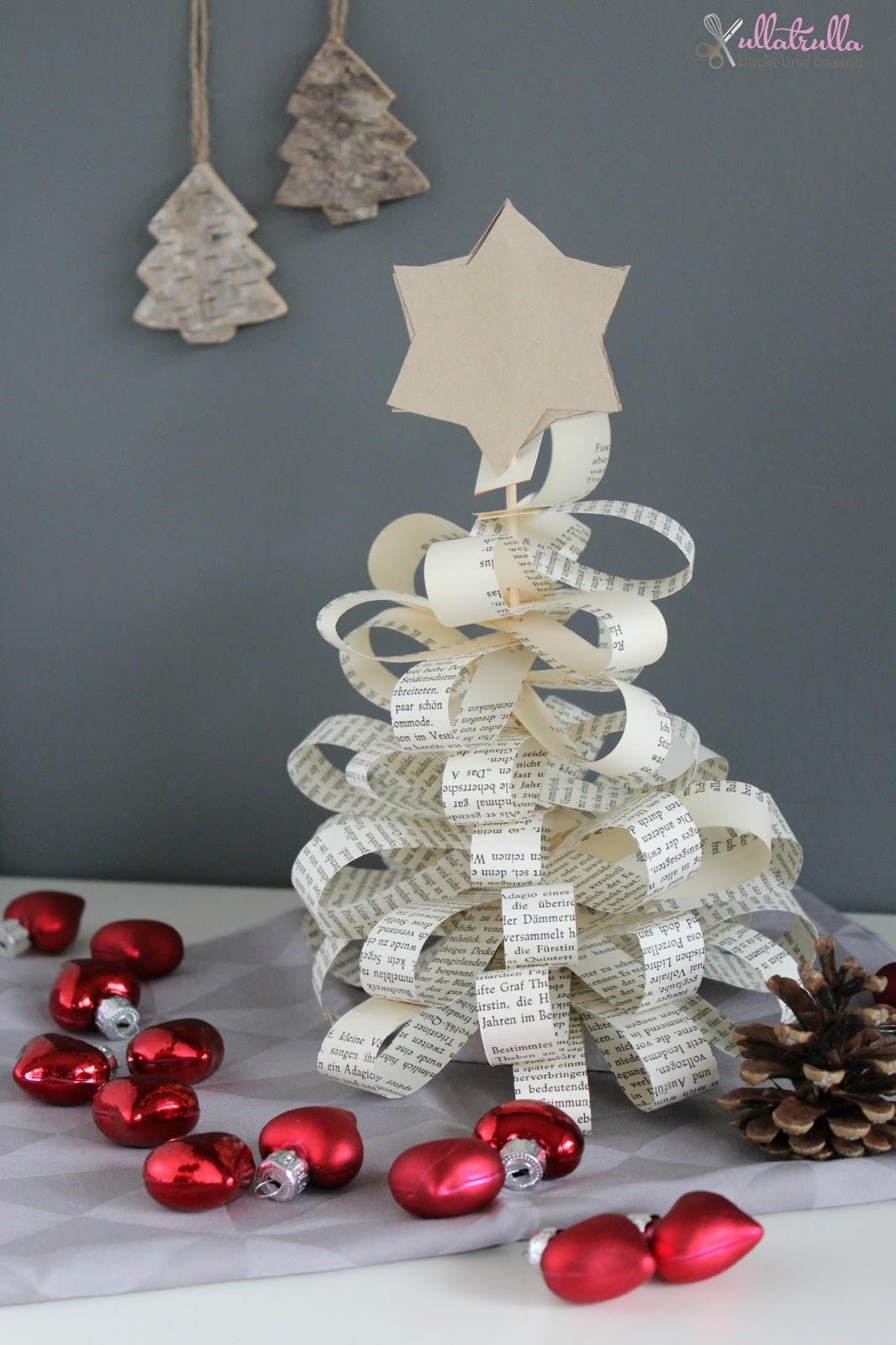 Weihnachtsbaum aus buchseiten basteln – Europäische ...
