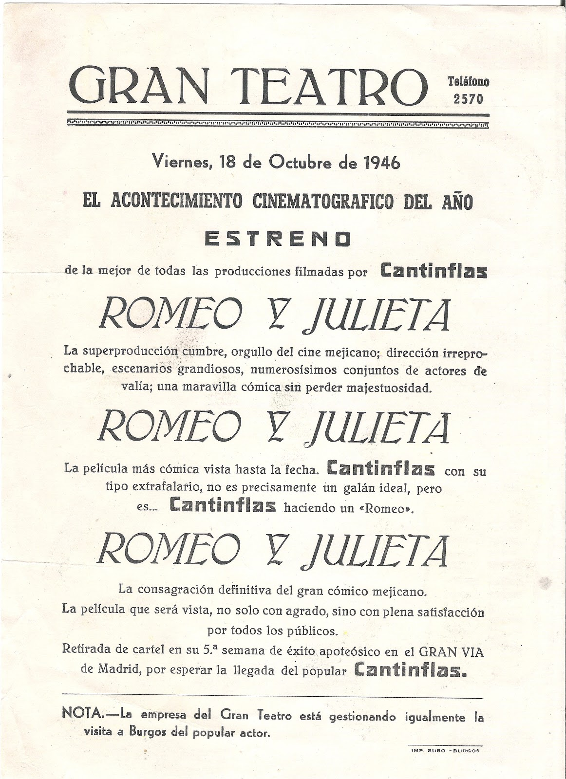 guion de romeo y julieta: