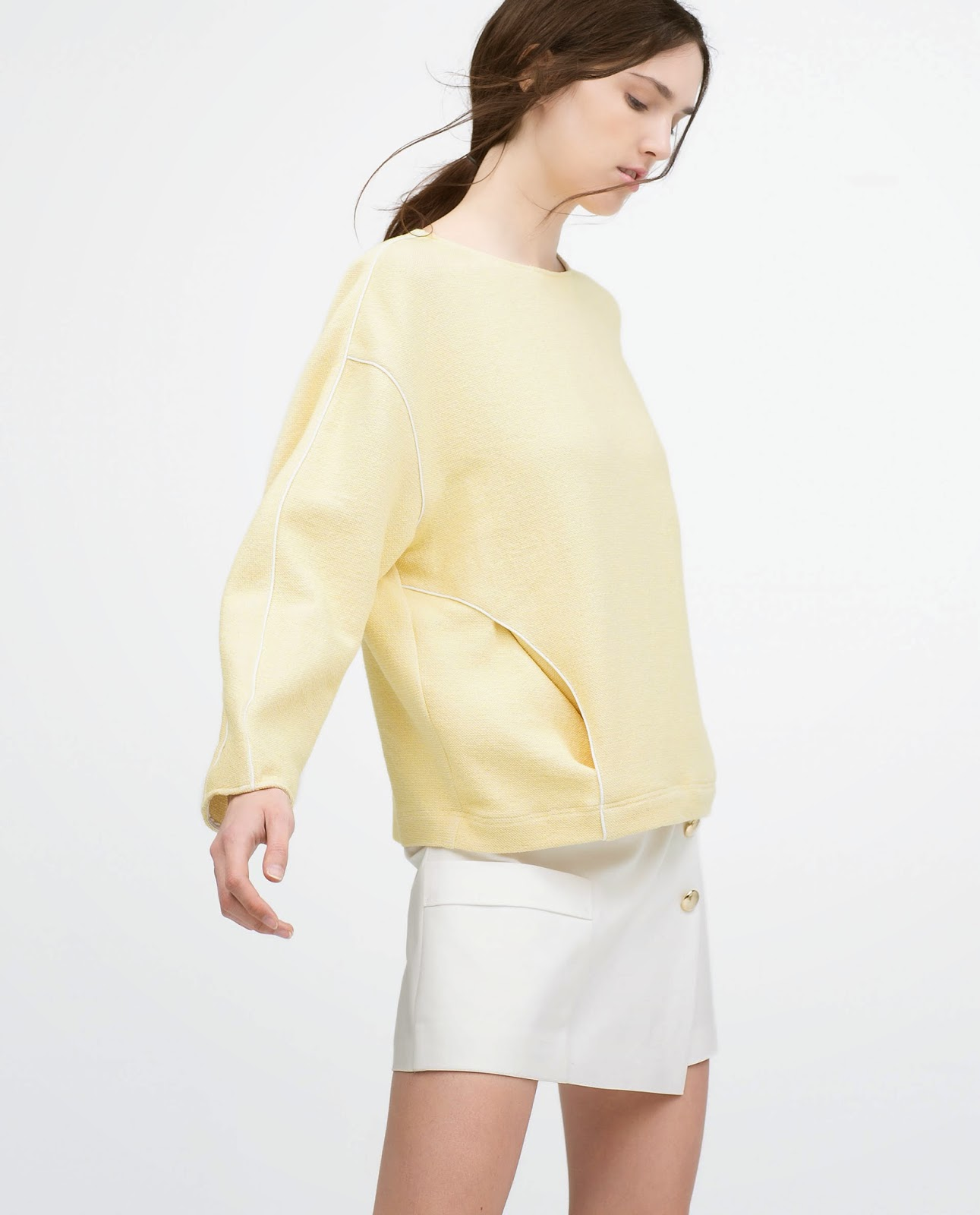 zara lemon jumper, zara yellow jumper,
