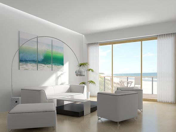 Construindo minha casa clean estilos de decora o nas fachadas e interiores - Attractive lamp shade styles as your beautiful room decorating ideas ...
