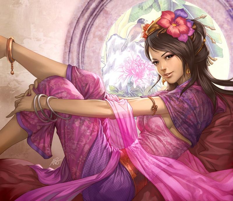 D.W.C. Digital Art Warrior Women - Painter Stanley Lau