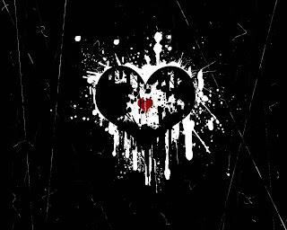 EMO Broken Hearth Dark Gothic Wallpaper