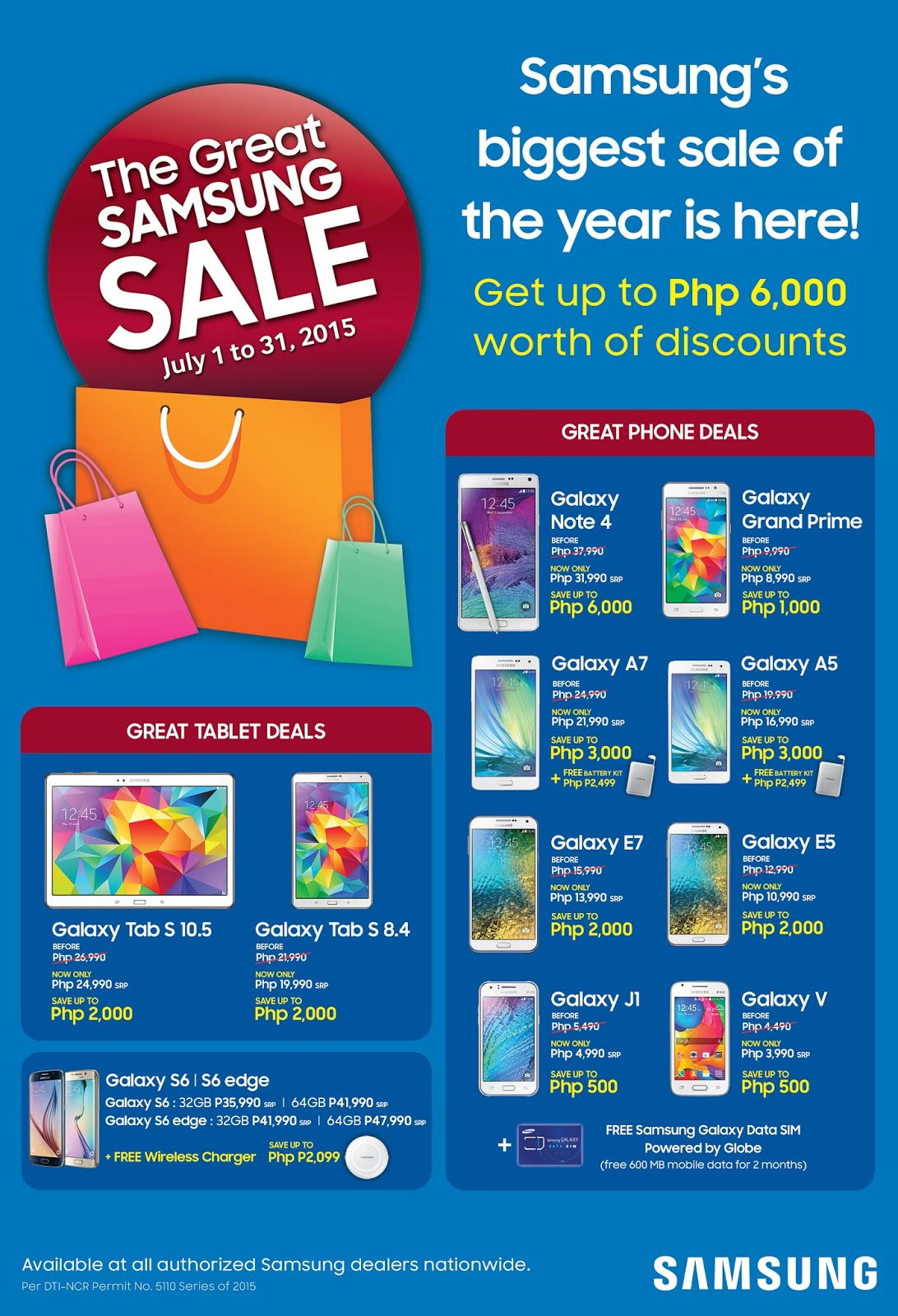2015 Great Samsung Sale for July