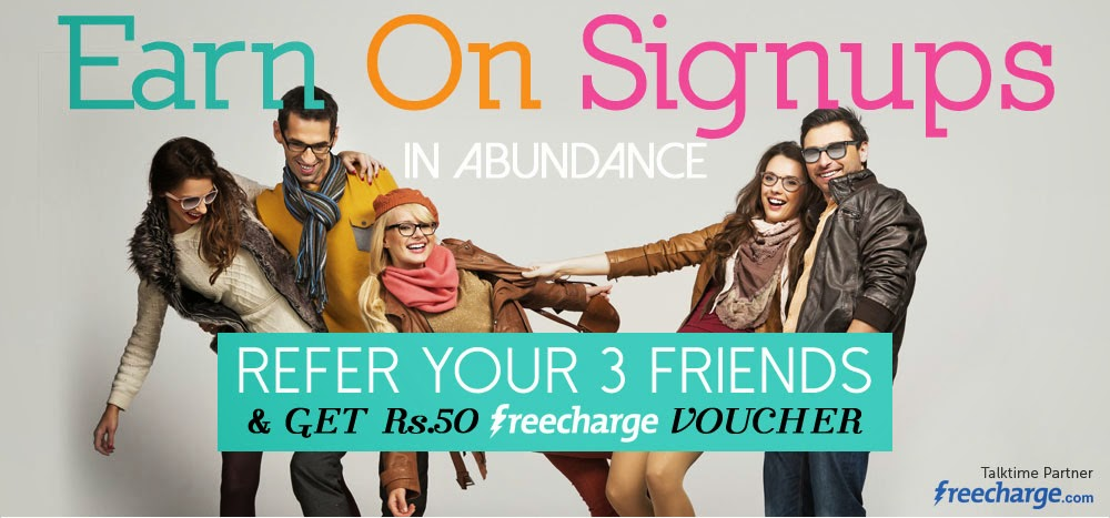 Get Rs 50 Free Mobile Recharge from Lenskart.com