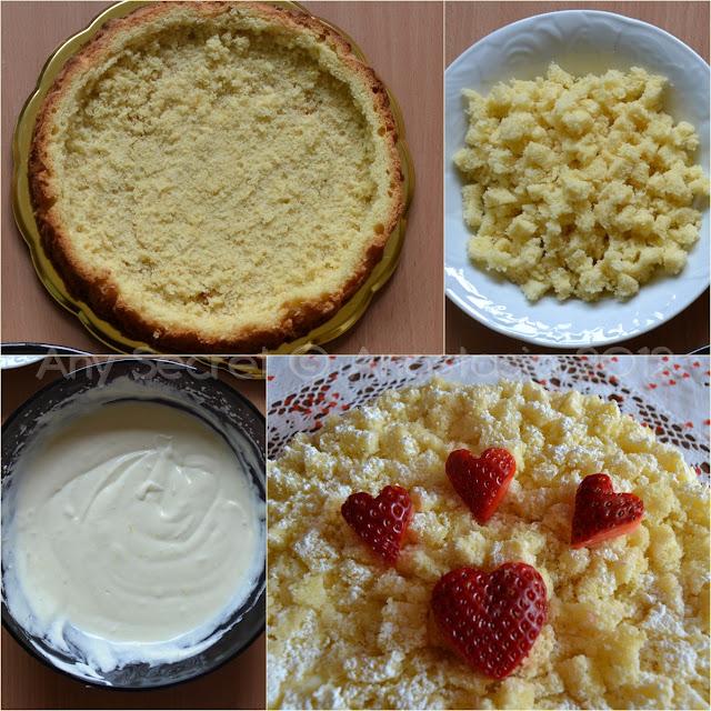 torta mimosa con crema chantilly al limone