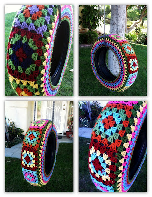Crochet-yarn-bomb-tyre-swing