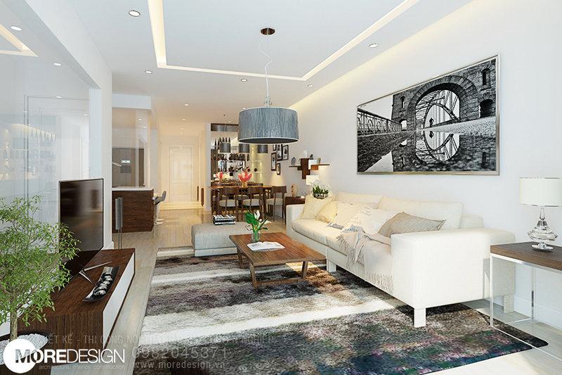 Nội thất căn hộ chung cư ICON56 - Nội thất phòng khách