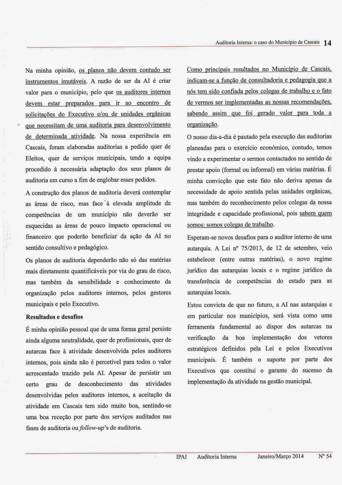 Artigo auditoria interna