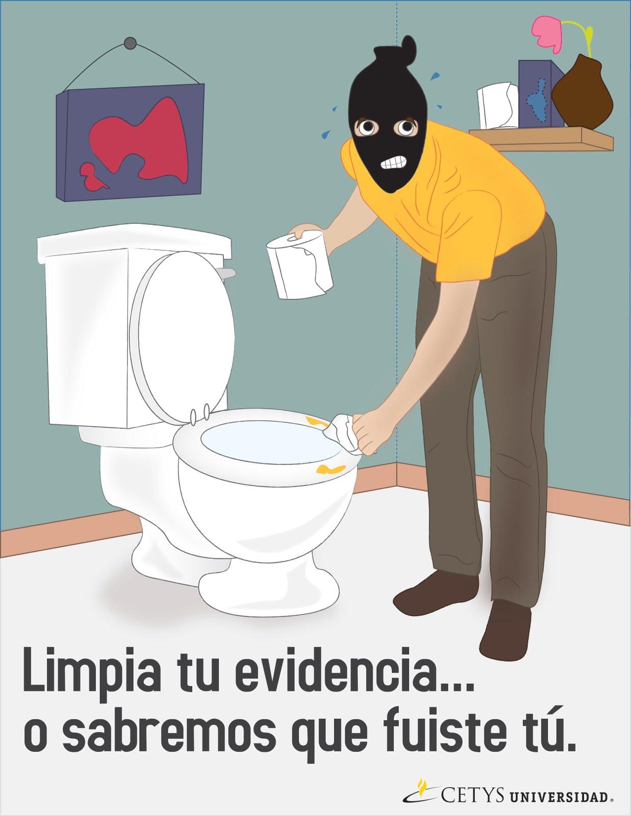 Imagenes De Limpieza Baño:Letreros Para Mantener Limpio El Bano
