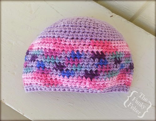 kids beanie cap crocheted by the funky felter