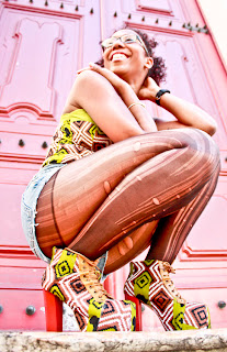 African Print Jeffrey Campbell style