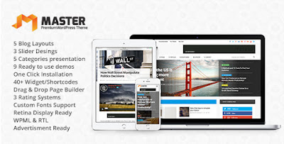 Free Download Master Premium Blog & Magazine WordPress Theme