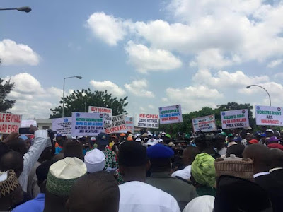 33 NLC and Trade Union congress in Kaduna and Kano march for Buhari anti corruption.