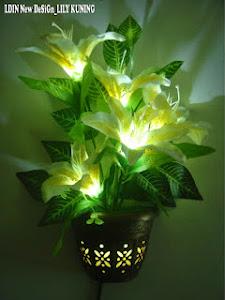 Lampu Bunga Cantik dan Unik