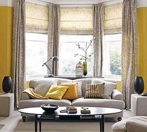 Yellow and Grey Room Design in 2012