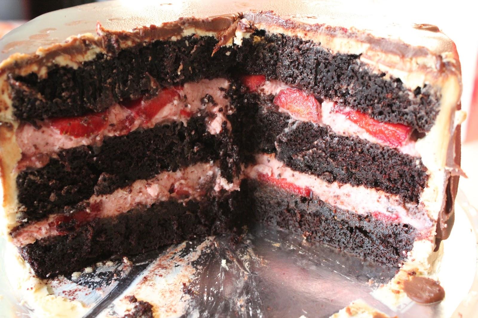 saftig chokladbotten tårta