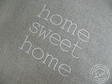 Poduszka lniana  Sweet Home