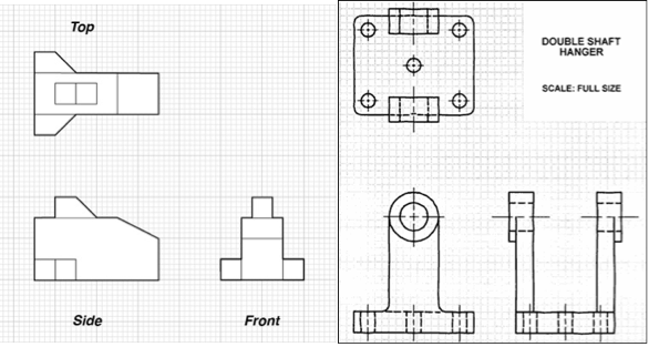 Elevation And Plan In Engineering Drawing : Everything design packaging different drawing approaches