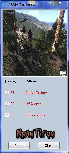 ARMA 3 trainer +2 V1.0.109.911 MrAntiFun