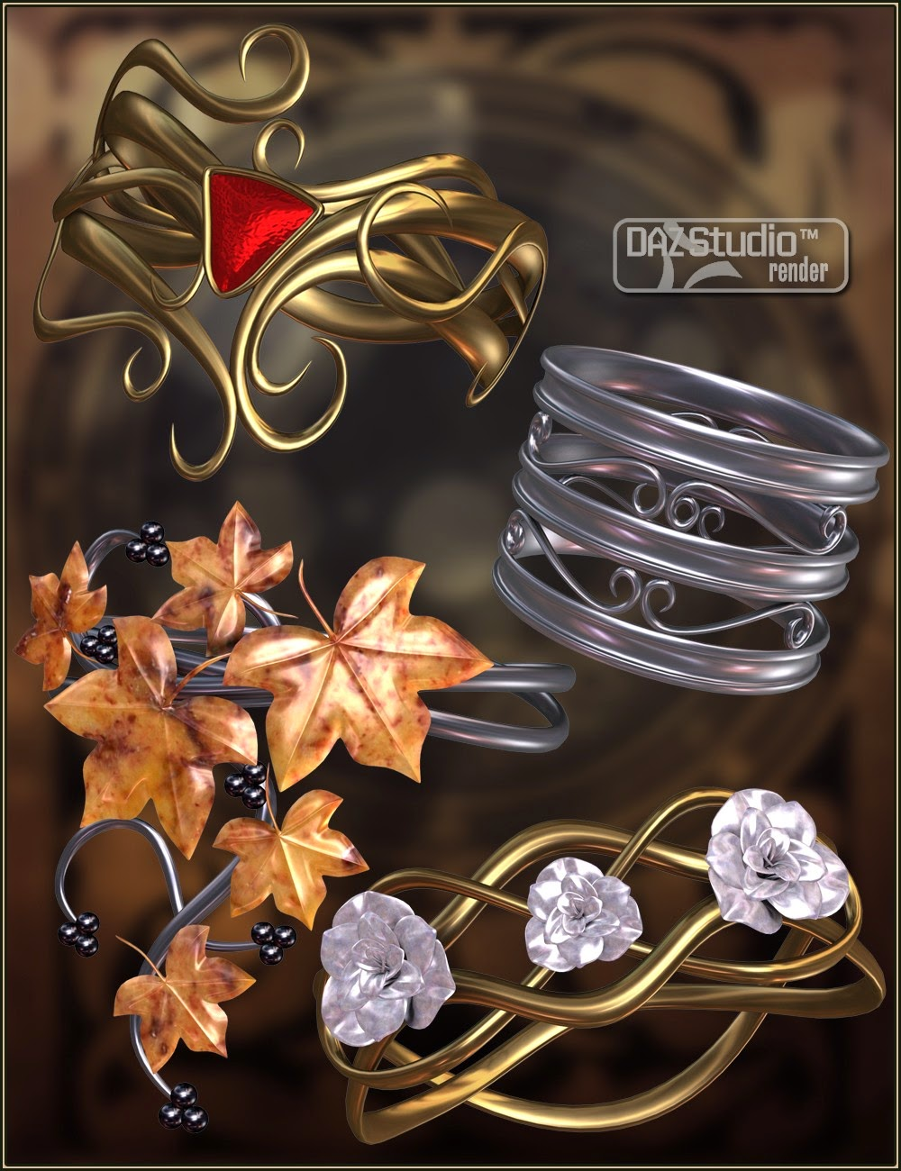 Bejeweled Bundle 2: Arm poignets, bracelets, bagues et Toe Rings