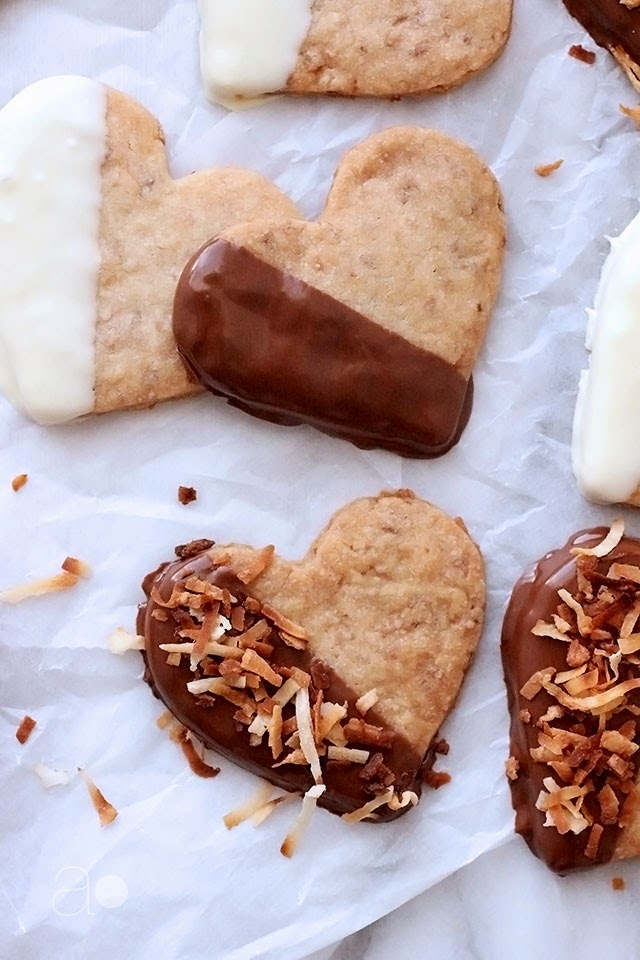 ambrosia: Toasted Coconut Shortbread Hearts