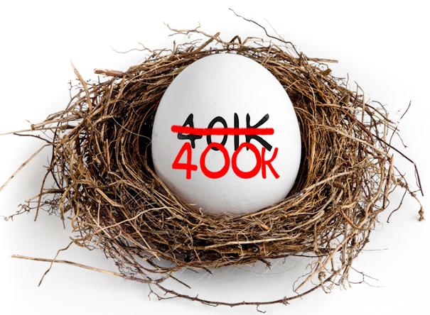 400k nest egg