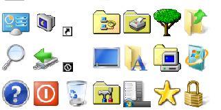 Часто используемые элементы как в Win7
