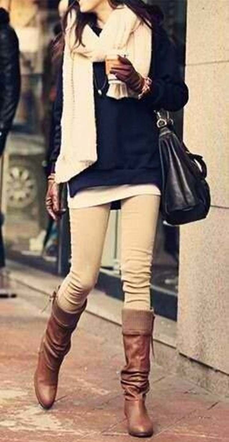 20+ Fascinating Collection Of Winter Outfits With Flat Boots