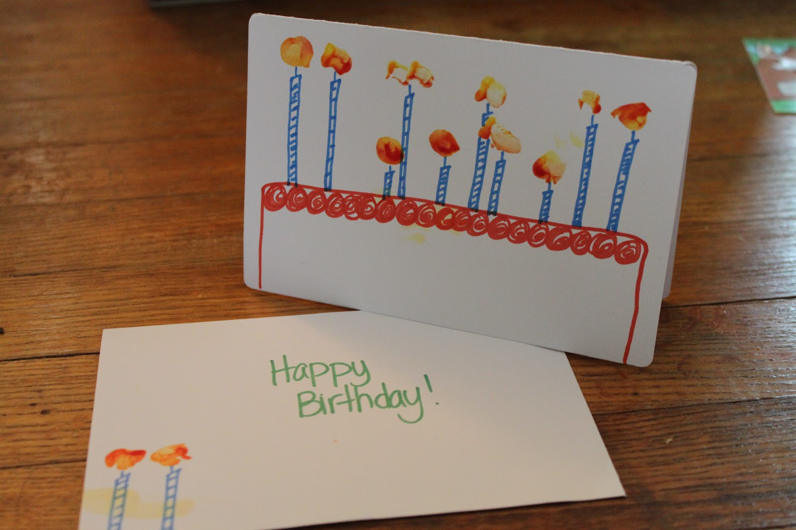 Birthday Card Ideas For Children To Make Part - 19: Toddler Art Birthday Card