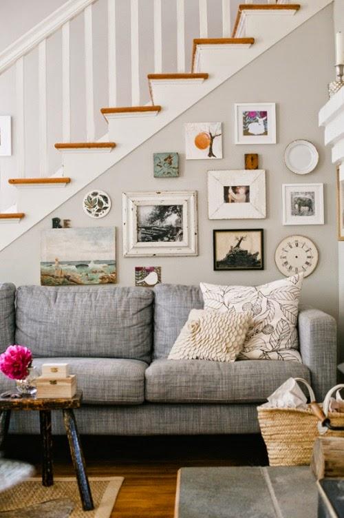 Sofa gris moderno