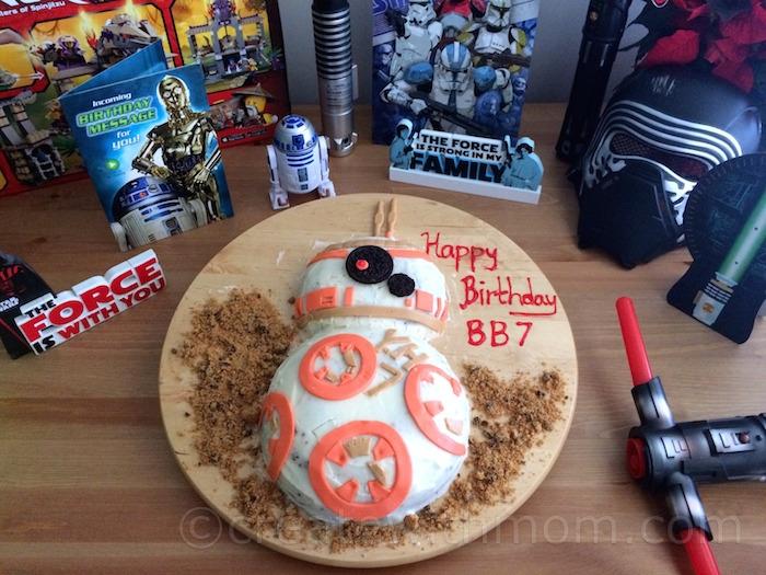 Create With Mom My Sons Bb8 Starwars Birthday Cake