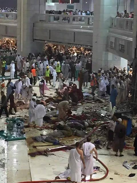 suasana sekitar masjidil haram