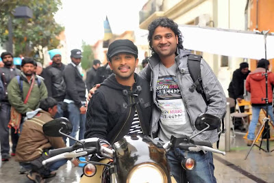 DSP Latest Stills at Iddarammayilatho Movie Sets