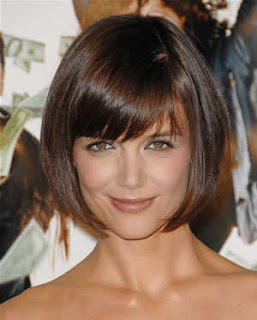 katie holmes short bob hairstyle mad money premiere Katie Holmes long and loose hairstyles