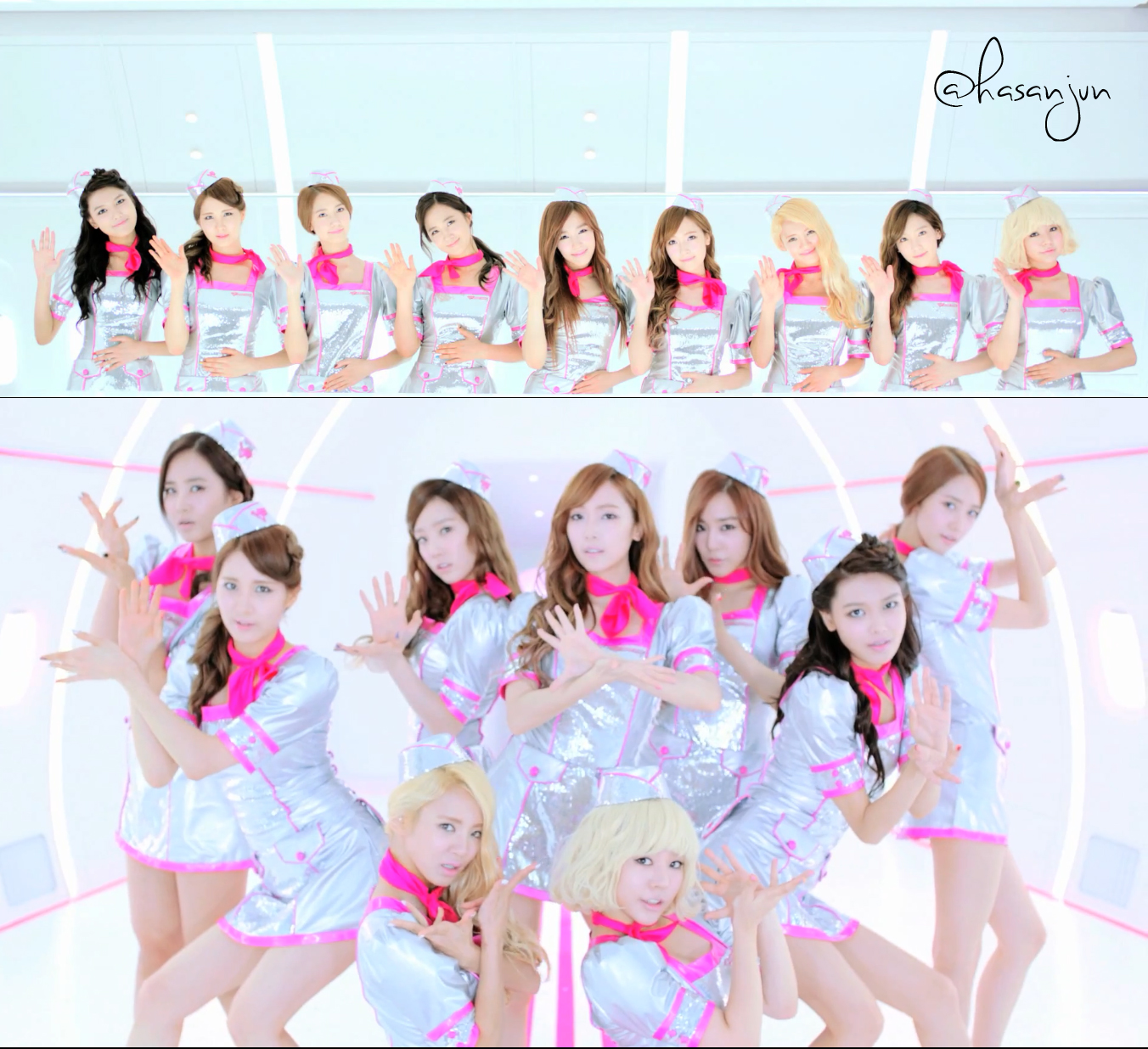 SNSD's 'Flower Power' first live performance on TBS '火曜曲' .