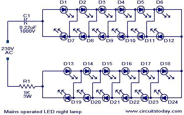 E L Q U D S  Rangkaian Led 220 Vac  Buat Lampu Lebih Hemat