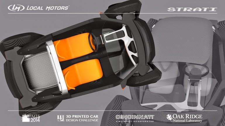 coche fabricado con una impresora 3d