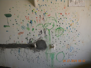 Finger prints on the wall