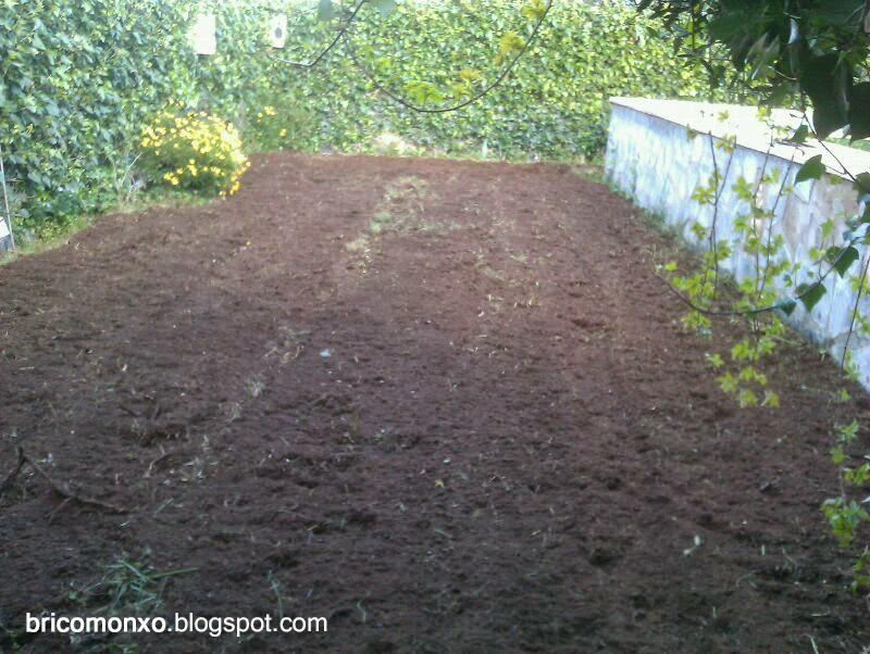 Bricomonxo arriate hecho con palets - Arriate jardin ...